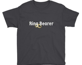 Ring Bearer T-Shirt - Bridal Party Attire, Wedding Rehearsal, Bachelorette Party, Casual Wedding