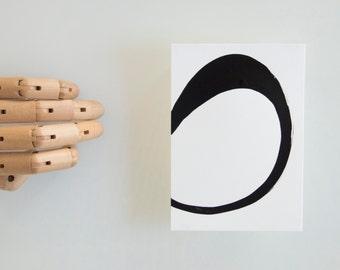 One way- Abstract ink art, line art, minimalist art drawing, modern art, black and white circle abstract painting, abstract ink art, drawing