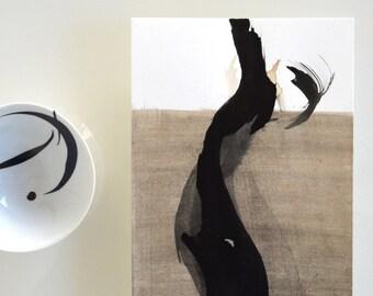 Original Abstract Ink Painting- modern art, minimalist art, abstract art drawing, ink drawing, abstract ink wall art, modern wall decor, ink