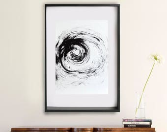 Original abstract ink art, large abstract art, abstract ink art, nature art, art, minimalist abstract, large wall art, abstract painting