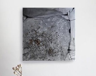 Abstract square painting, abstract canvas, original abstract painting on canvas, abstract wall art canvas, abstract art, art