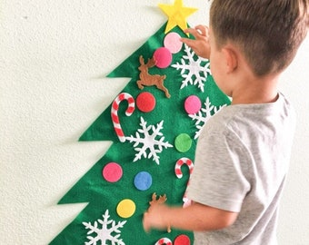 Located in the USA!Sale! Felt Christmas Tree Kit