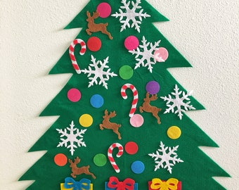 felt christmas tree kit - Etsy Christmas Decorations