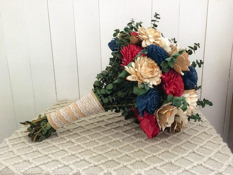DIY Wood Flower Bouquet Kit Fall Bouquet Fall Botanicals Collection