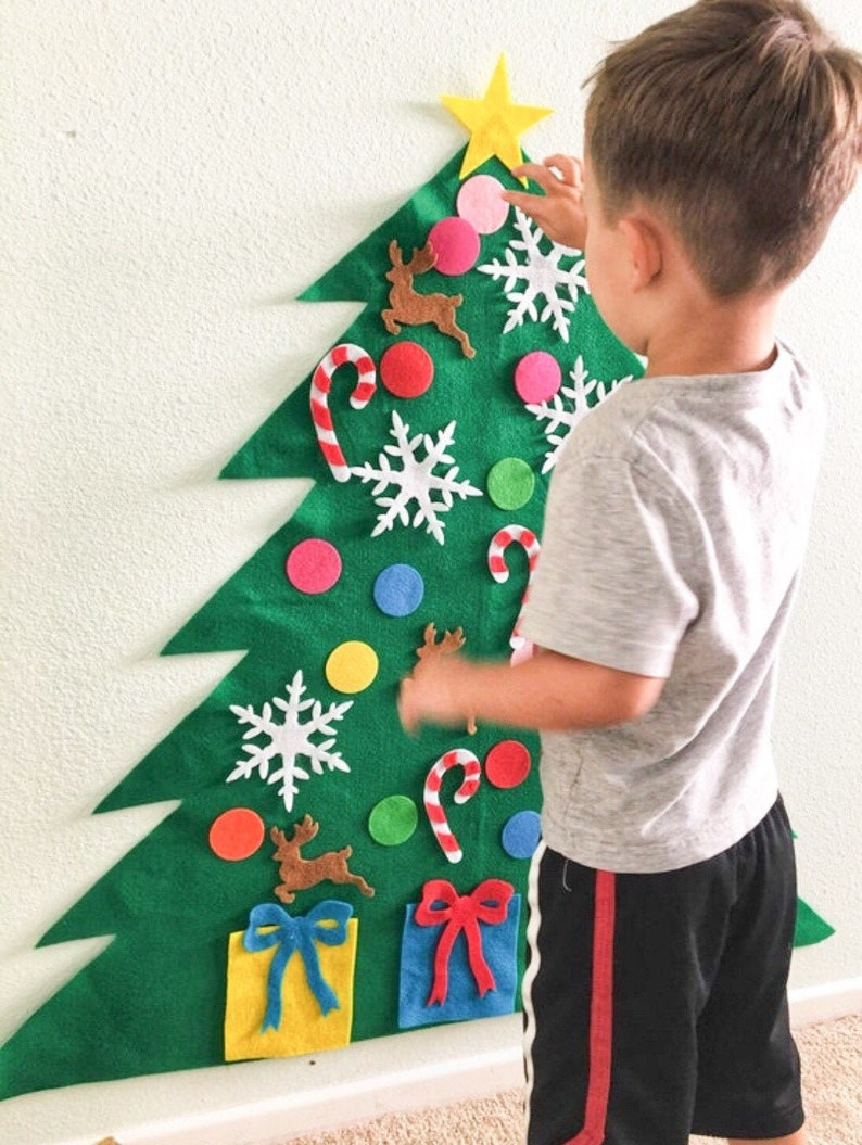 Located in the USASale Felt Christmas Tree Kit image 1
