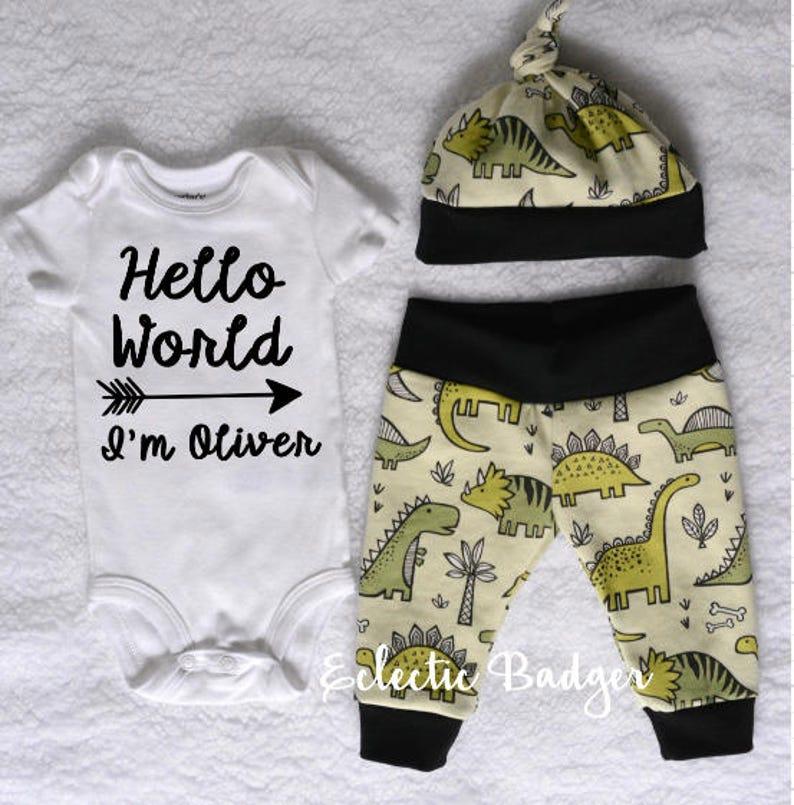 af9cdb5fe Baby boy clothes Baby boy dinosaur outfit newborn Baby boy | Etsy