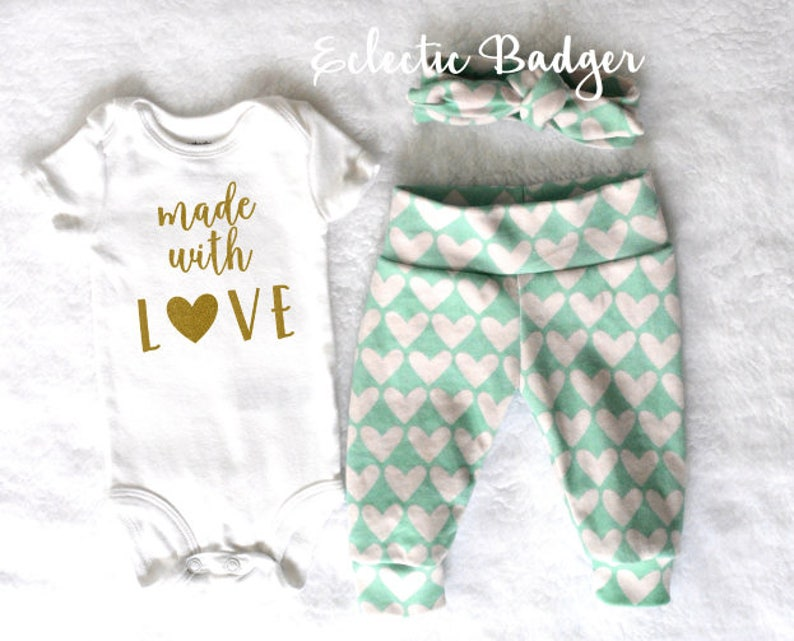 5e457491c Newborn outfit Valentines day Baby girl going home outfit   Etsy