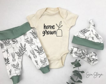 Home grown baby, Plant lovers baby gift idea, Plant baby gift, Home grown baby gift, Gender neutral baby gift, Plant gift for baby