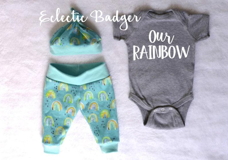Baby rainbow boy Rainbow baby clothing Coming home outfit Going home outfit Newborn rainbow baby boy outfit Baby boy gift Personalized baby