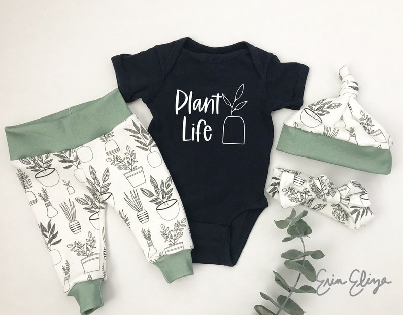 Plant baby shower gift Plant lady gift for baby Botanical baby Plant life baby Gender neutral Baby plant gift Plant baby gift