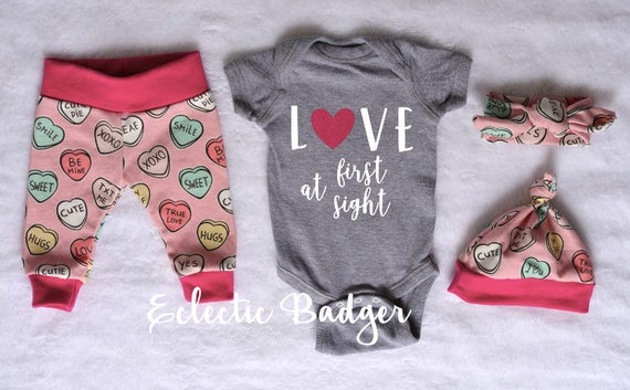 Newborn Valentines Day Outfit Newborn Organic Clothes Baby Etsy