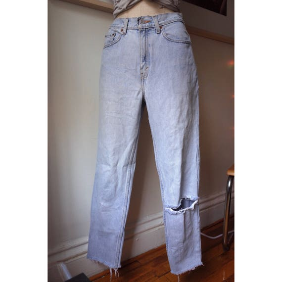 Vintage 1980s Levi's 512 Tapered & Ripped