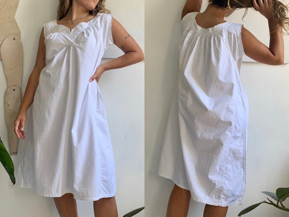 vintage antique 1910s edwardian white cotton scall