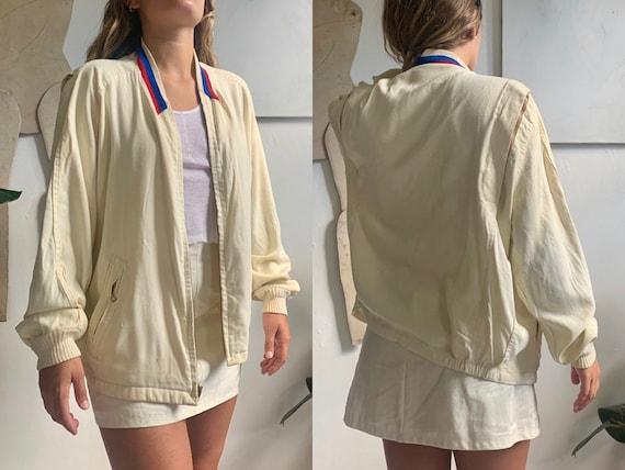 vintage 1940s mcgregor bomber rayon tennis jacket