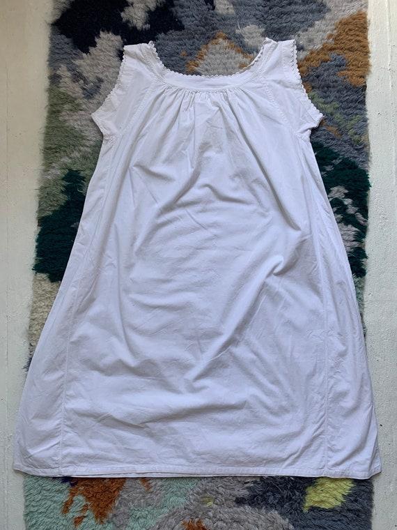 vintage antique 1910s edwardian white cotton scal… - image 5