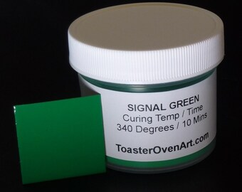 Signal Green Powder Coating