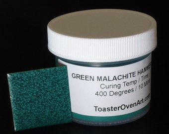 Green Malachite Hammertone Powder Coating