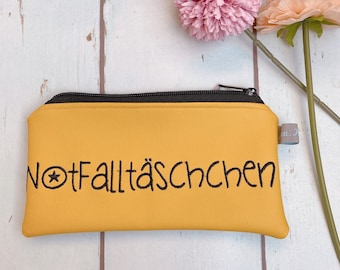 """Faux leather bag """"emergency bag"""" yellow"""