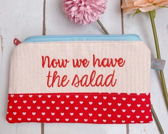 "Bag ""Now we have the salad"" denglish pens"