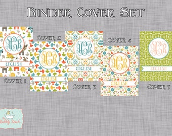 Woodland Animals Personalized Binder Cover Set- INSTANT DOWNLOAD