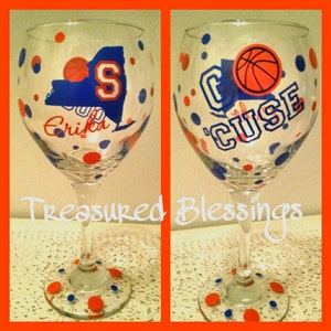 Syracuse Collegiate Wine Glass