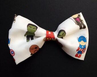 Avengers Hair Bow/Clip-on Bow Tie - Medium