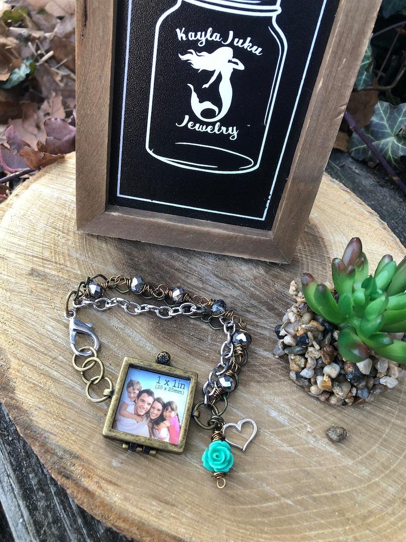 Picture frame bracelet