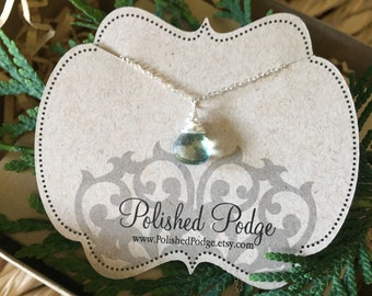 Beautiful green quartz necklace, beautiful green necklace; green quartz    stone necklace