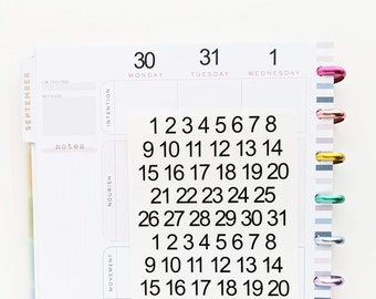 Calendar Numbers | Planner Stickers | Journaling Stickers