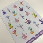 A124 - Watercolor Yoga - Planner Stickers