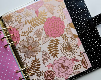 Five (5) Tab Dividers - Blush Glam - Planner Dividers