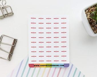 Migraine | Planner Stickers | Journaling Stickers