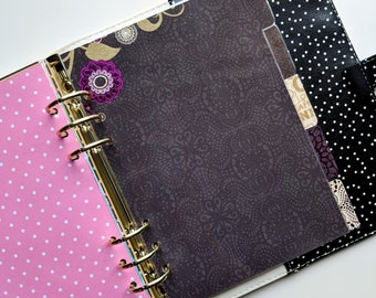 Five (5) Tab Dividers - Midnight Berry - Planner Dividers - A5, A6