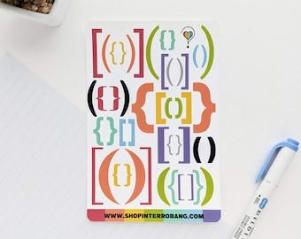 Brackets | Planner Stickers | Journaling Stickers