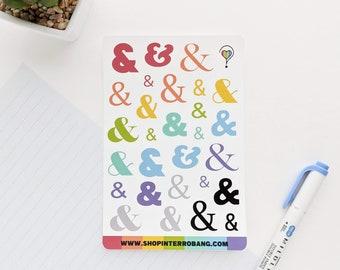 Ampersands | Planner Stickers | Journaling Stickers