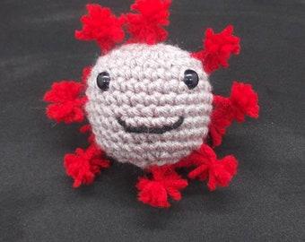 Crochet squeaky Virus toy