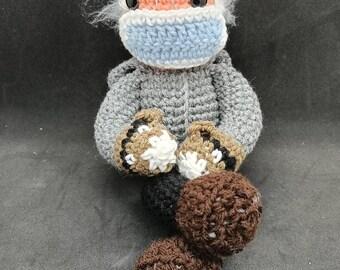 Cozy Bernie Crochet doll