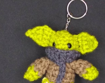 Space Baby Keychain