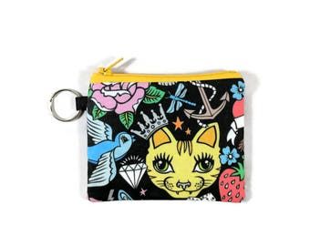 Coin Purse Earbud and Lip Balm Bag Gift for Classmate Cute Fox Pouch Wallet Kids Lunch Money Pouch Small Zipper Pouch
