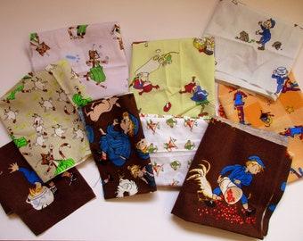 Marimekko fabric, Puutharhurin Parhaat, cotton, black, yellow, Finland, designer Maija Louekari, 145x75 cm cm