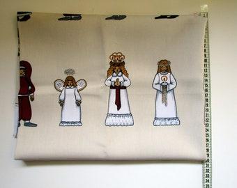 Luciatag, Arvidssons textile fabric, Sweden, cotton, Christmas, designer Mia-Lotta Arvidsson-Mars, 140x80 cm cm