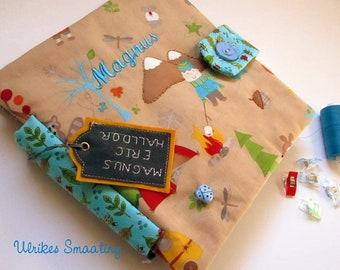 Quietbook custom made, to order, personalized, fabric, activities, children, gift, handmade