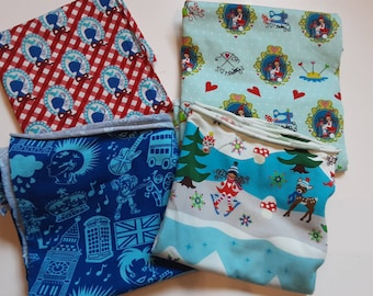 Dwarf beautiful fabric package, cotton and jersey, rare, children's clothes, baby clothes, London