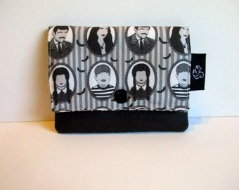 Addams Family Wallet, Gothic, Halloween, Nerd, Geekery, money, handcraftet