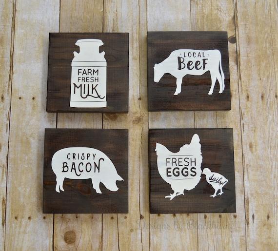 farm animal kitchen wall decor signs farmhouse decor etsy rh etsy com