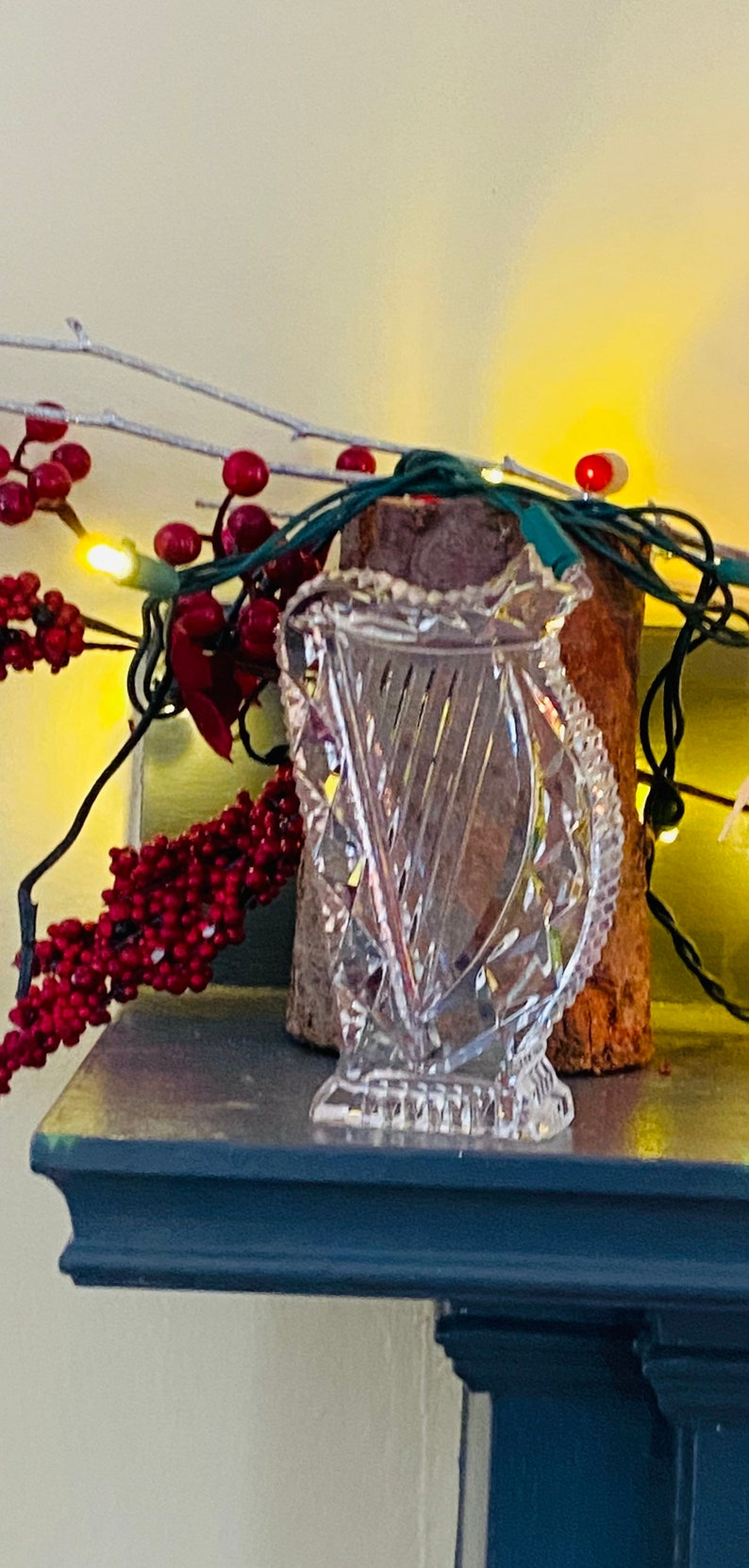 Waterford Collector\u2019s Piece Authentic Waterford Crystal Vintage Irish Hand Cut Crystal Harp Ireland Waterford Glass Art Marked