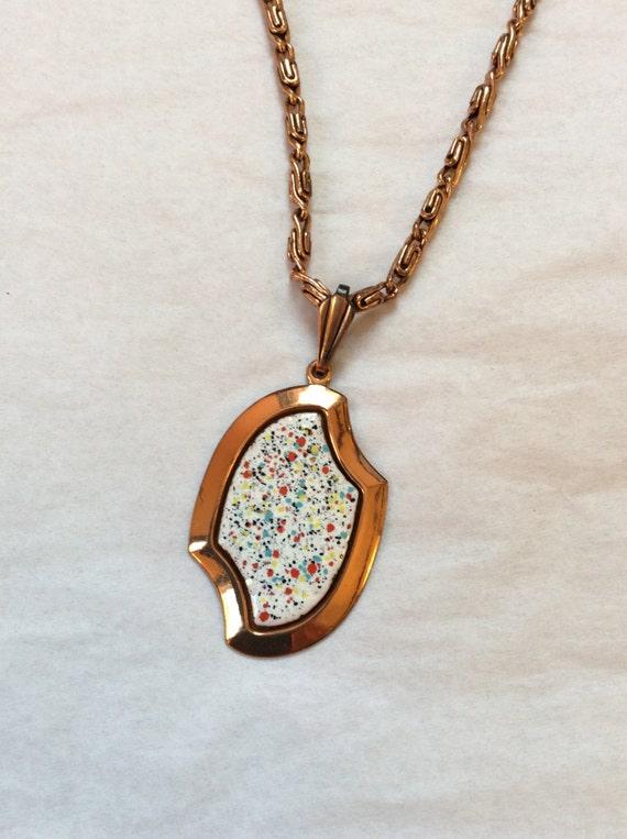 Genuine Copper Necklaces, Enamal Painted Copper Pe