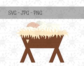Baby Jesus SVG Manger Nativity Scene Svg Files Christmas Cut
