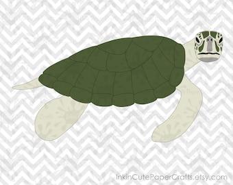 Sea Turtle SVG, Sea Turtle Clip Art, Ocean Animals SVG, Ocean Animal Clipart, Sea Animals SVG, Sea Animal Clipart, Ocean Animal svg