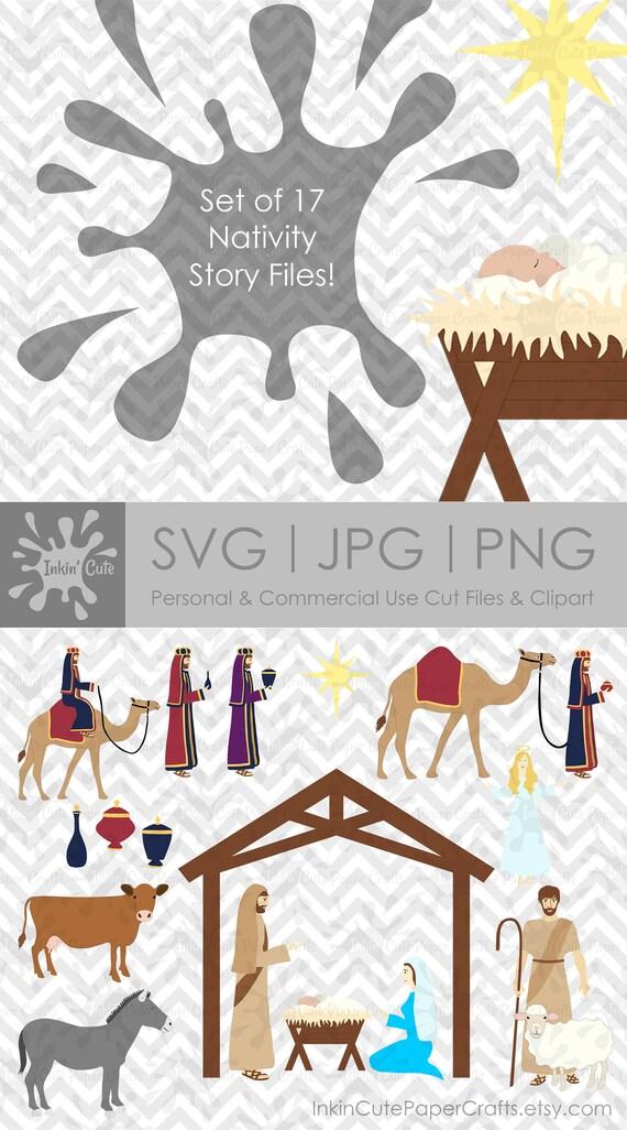 Krippe SVG-Dateien Bibel Clip Art Weihnachten Svg Krippe | Etsy